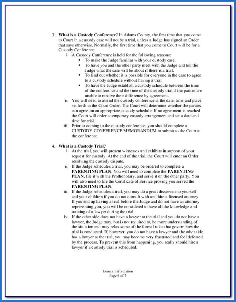 Adams County Divorce Forms