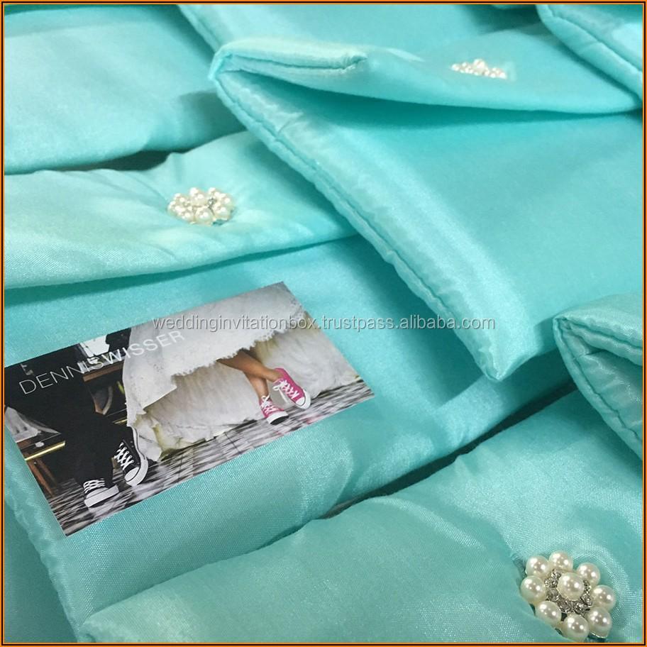 Aqua Blue Wedding Invitation Cards