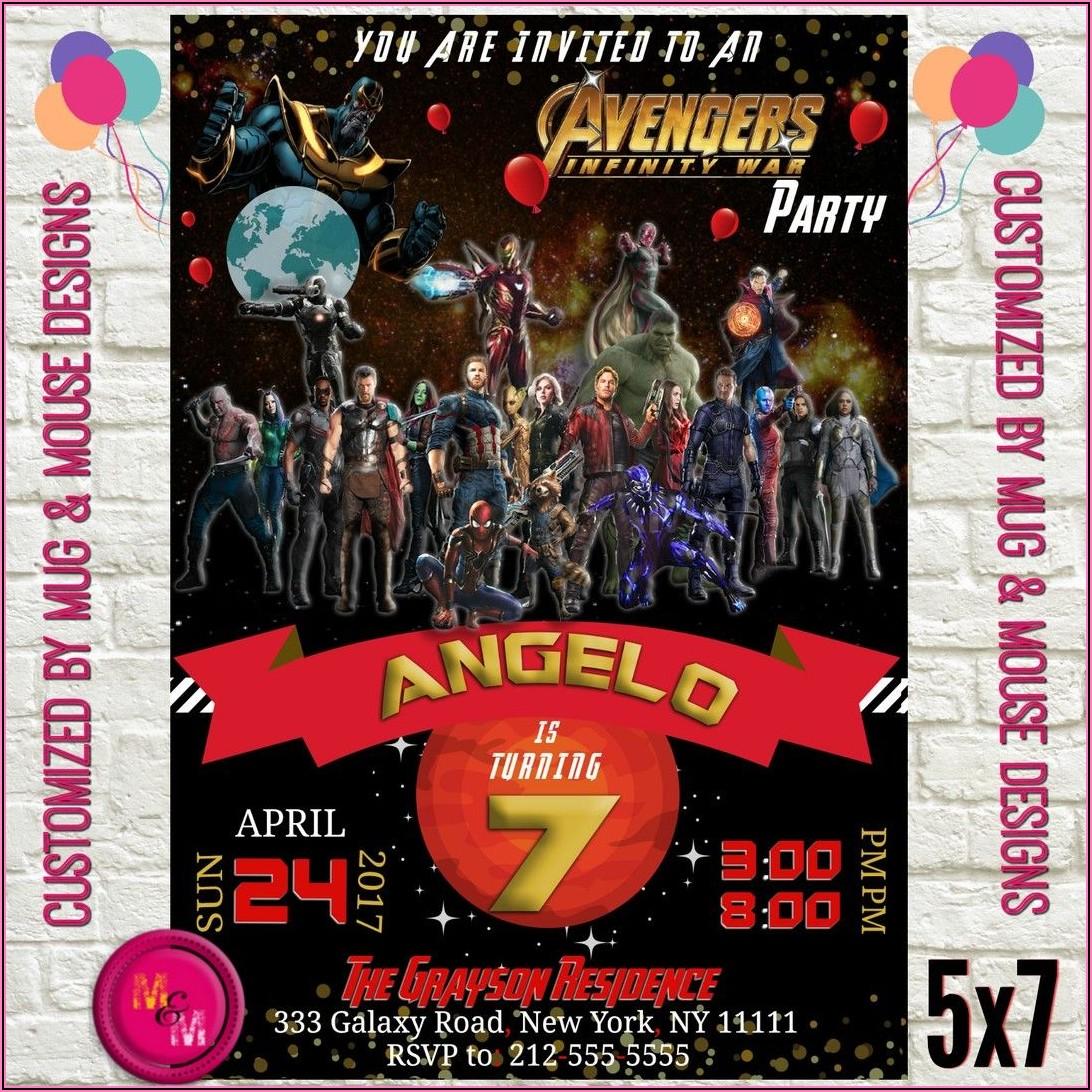 Avengers Birthday Party Invitations Printable
