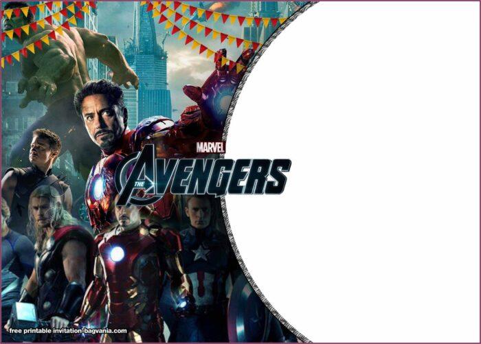 Avengers Endgame Birthday Invitation Template