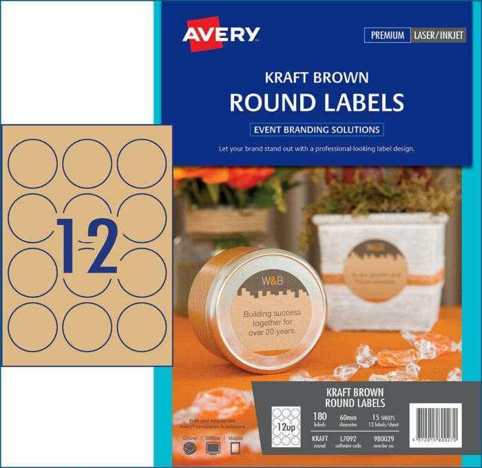 Avery 60mm Round Labels Template
