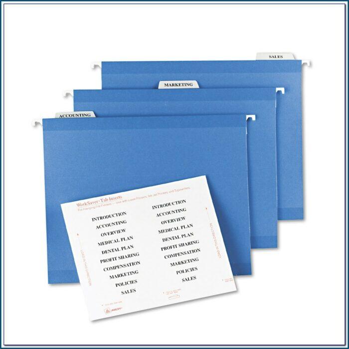 Avery File Folder Labels 5366 Template