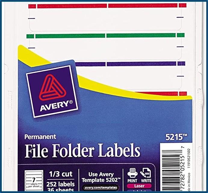 Avery File Folder Labels Template 5202