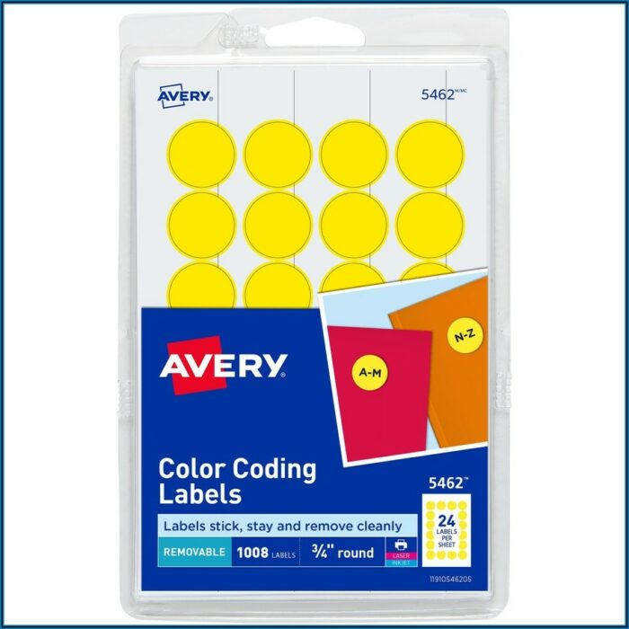 Avery Round Labels 24 Per Sheet Template