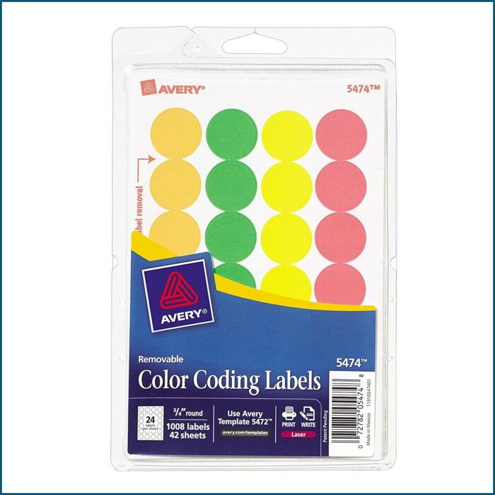 Avery Round Labels 45mm Template