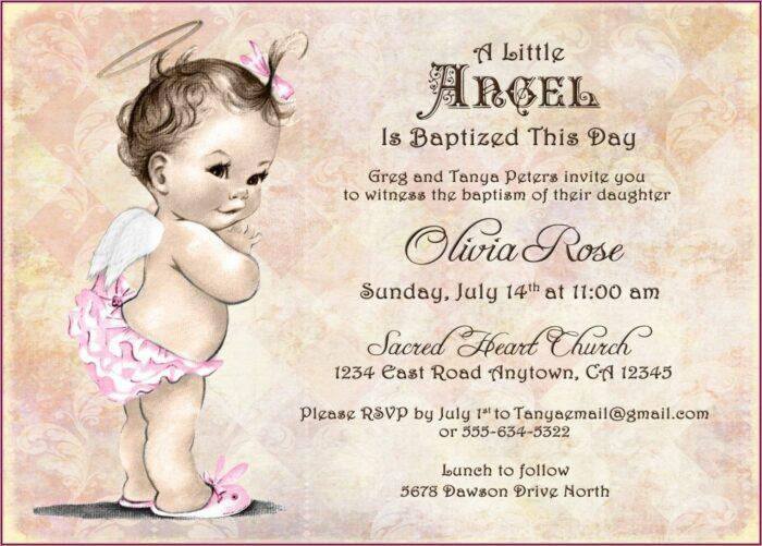 Baby Girl Invitation For Christening