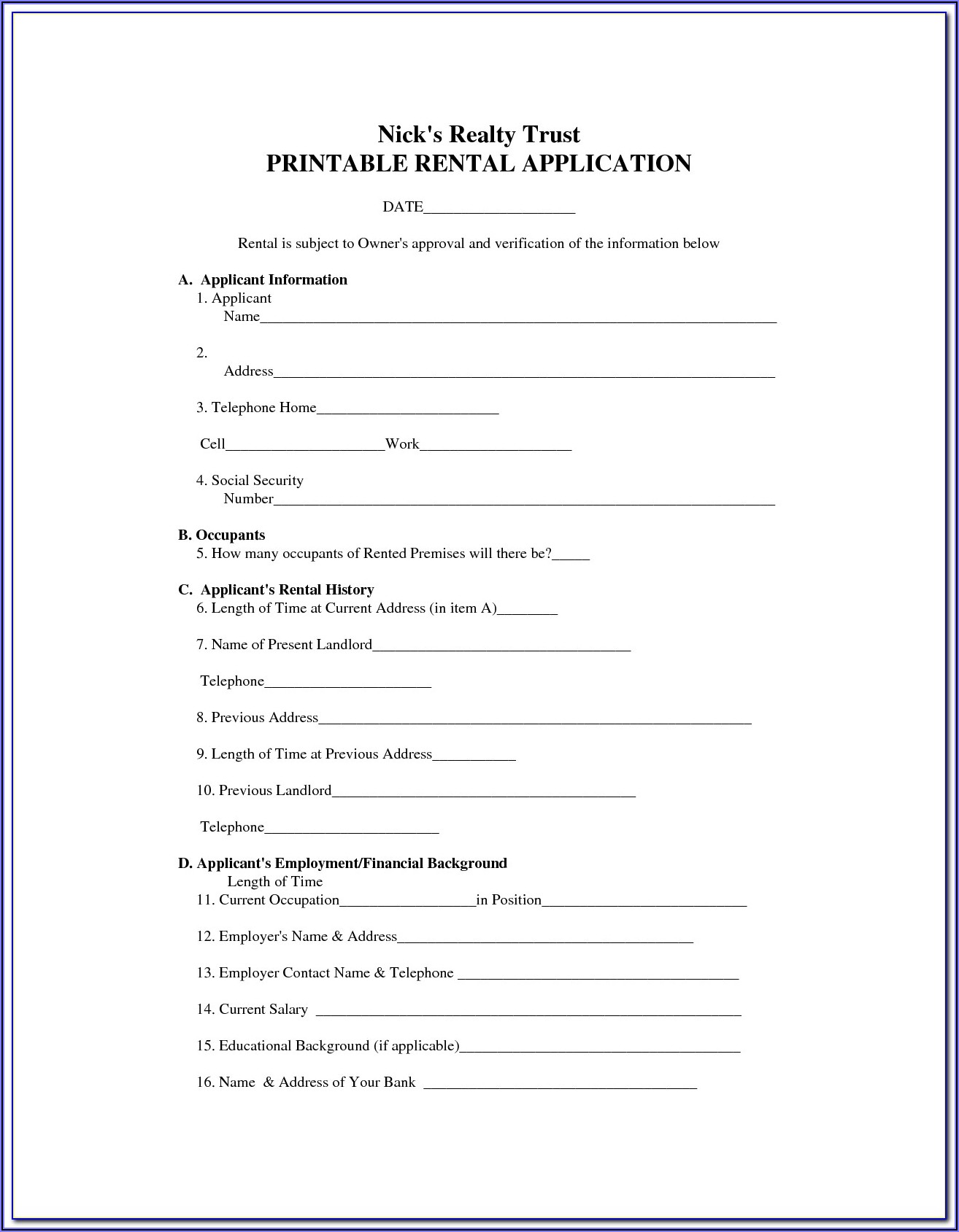 Basic Commercial Lease Agreement Template Free Uk
