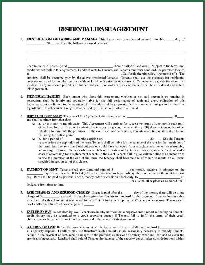 Basic Rental Lease Agreement Form
