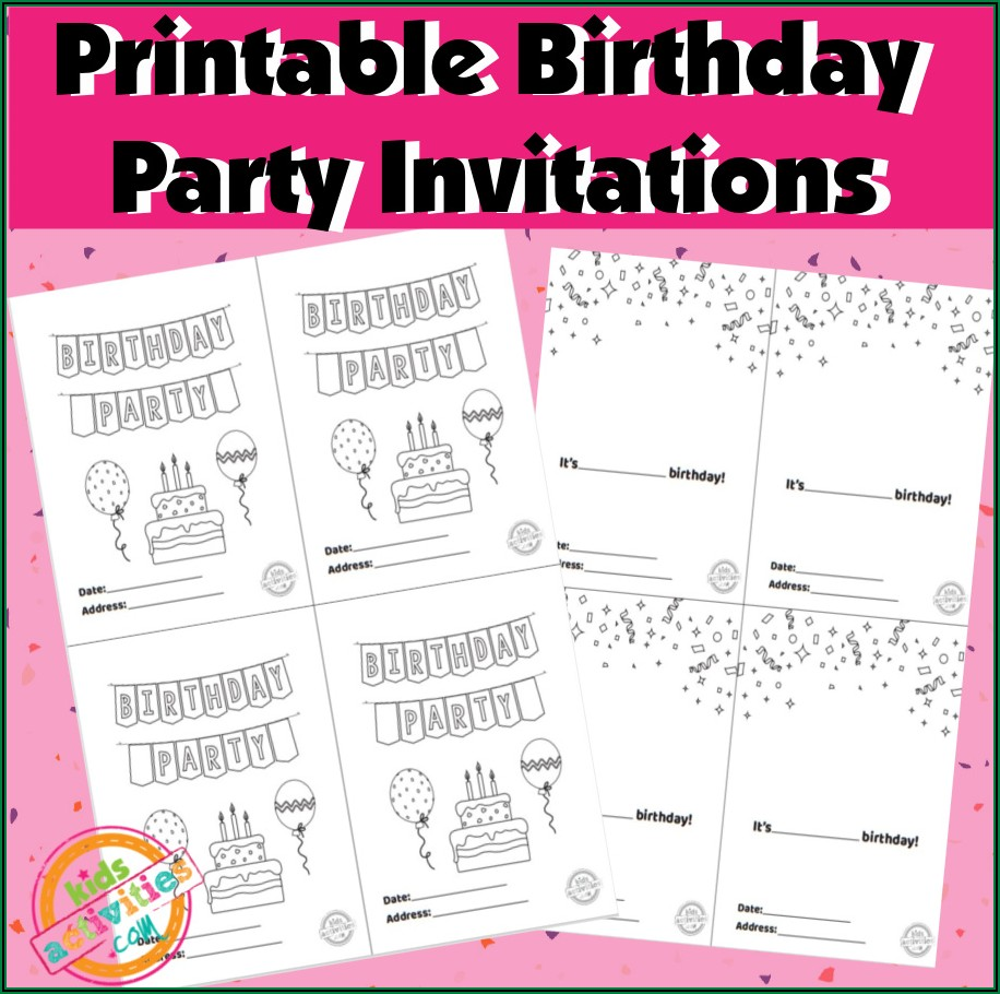 Birthday Invitations You Can Print At Home
