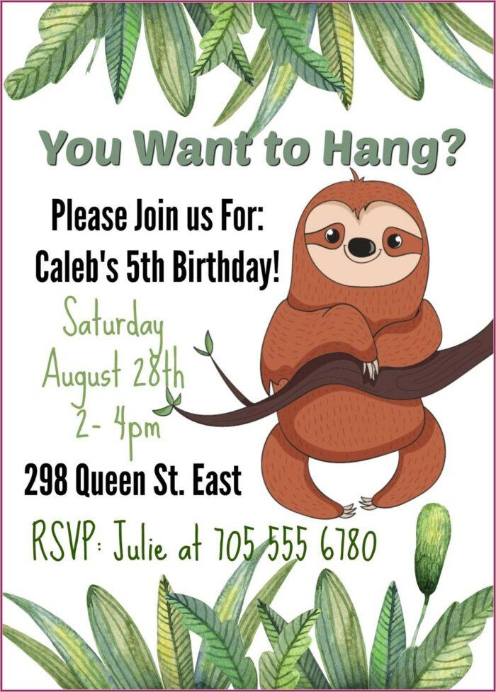 Blank Avengers Birthday Invitations