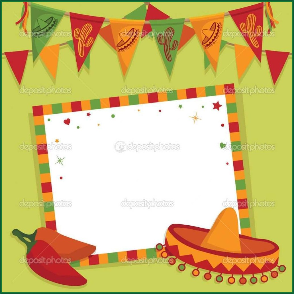 Blank Mexican Invitation Template Free