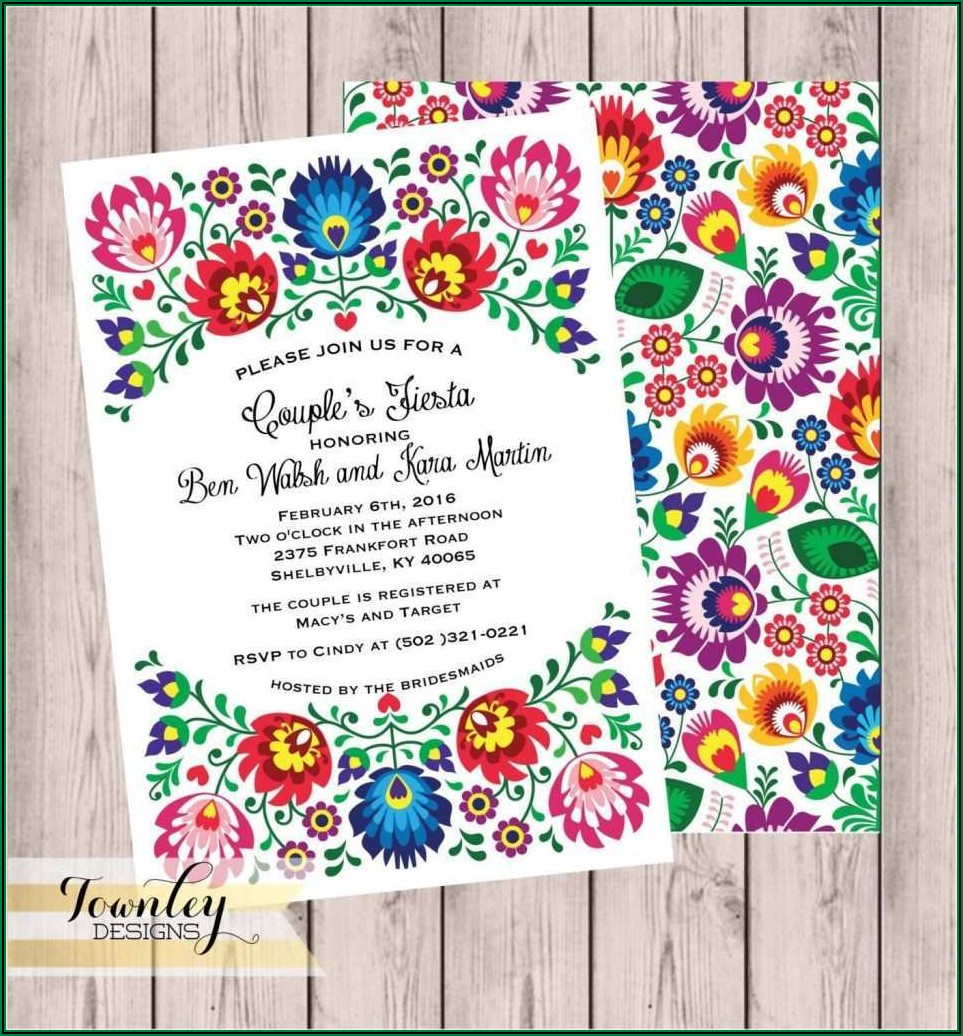 Blank Mexican Invitation Template