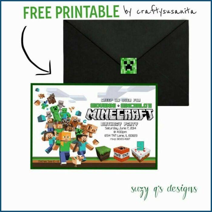 Blank Minecraft Invitation Template