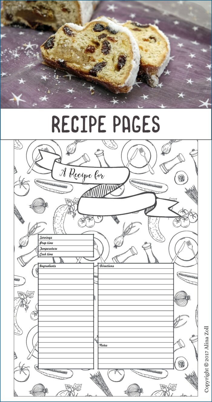 Blank Recipe Book Template