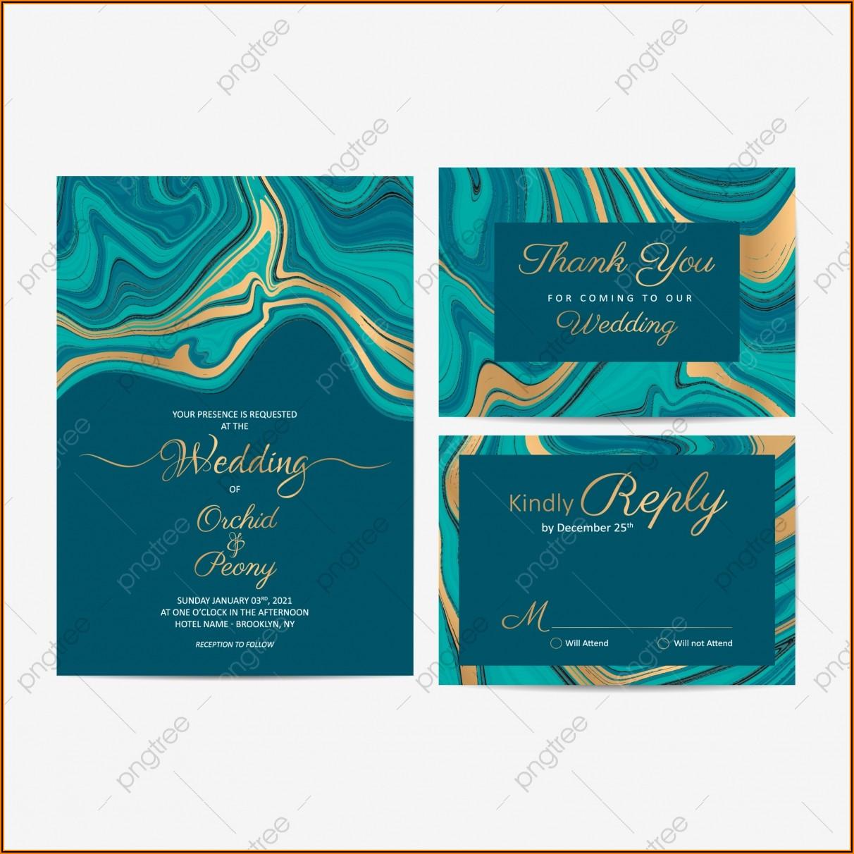 Blue Wedding Invitation Cards