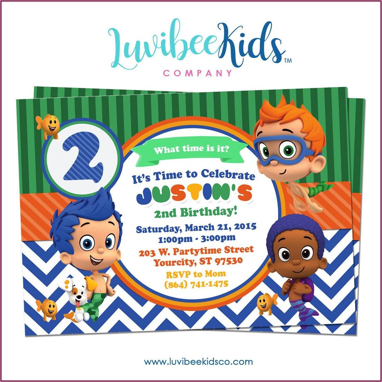 Bubble Guppies Birthday Party Invitations