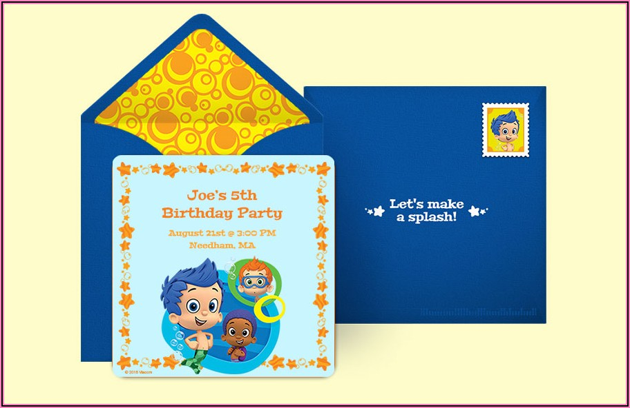 Bubble Guppies Invitations Online