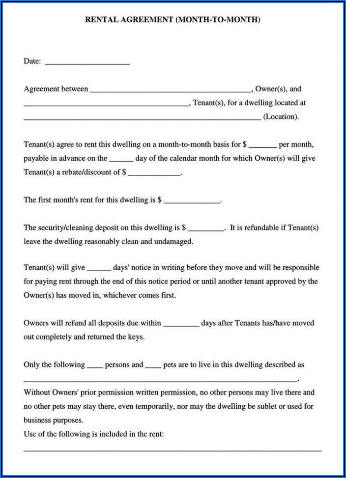 California Residential Lease Form Pdf