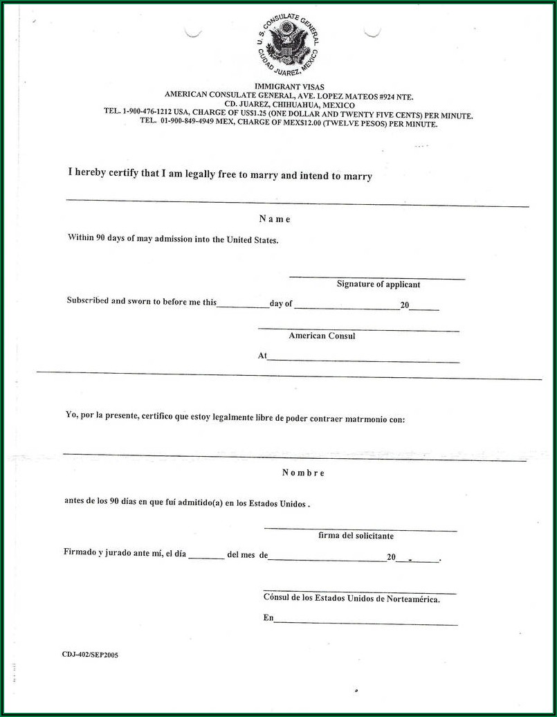 Canada Immigration Application Form Sample