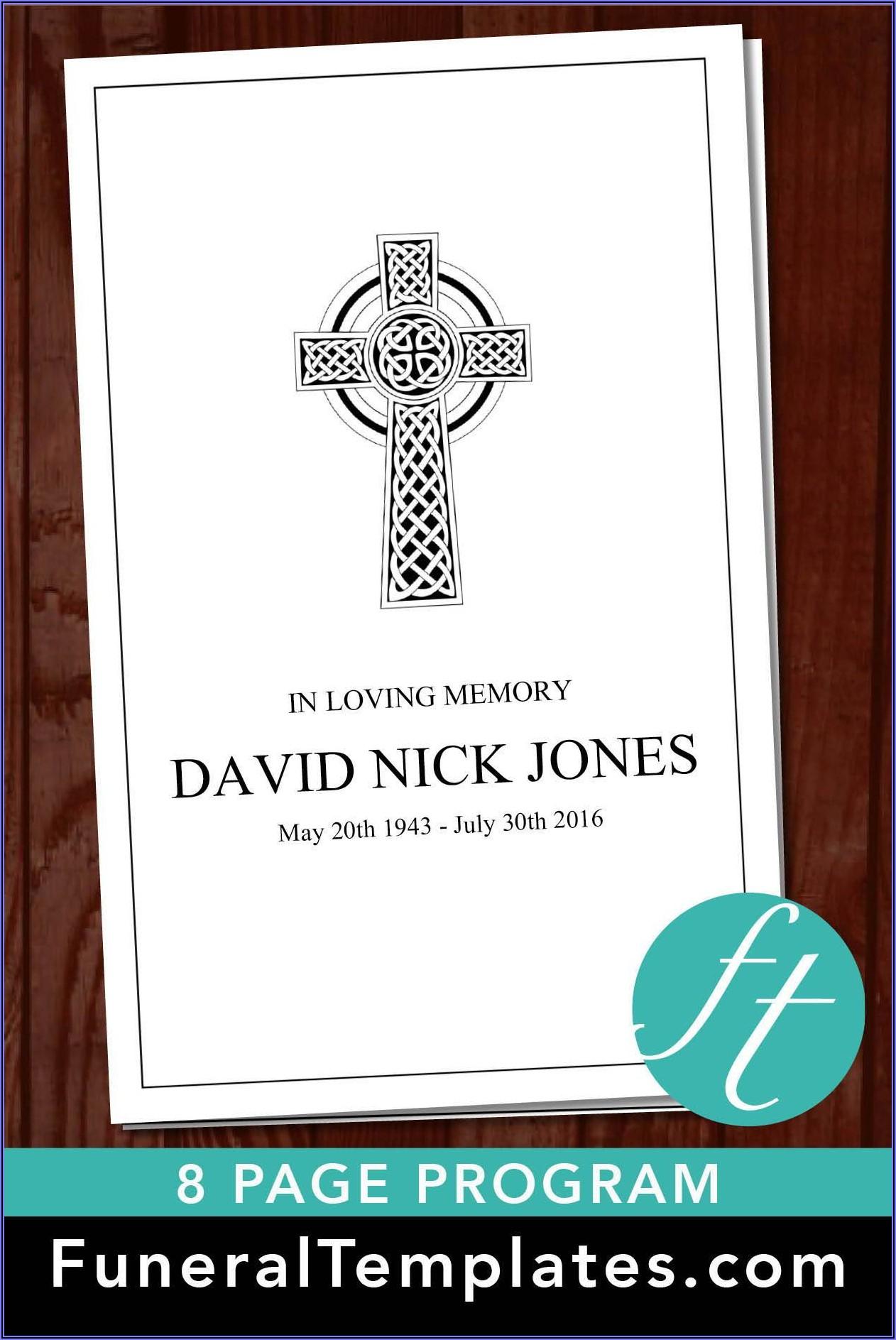 Catholic Funeral Program Template