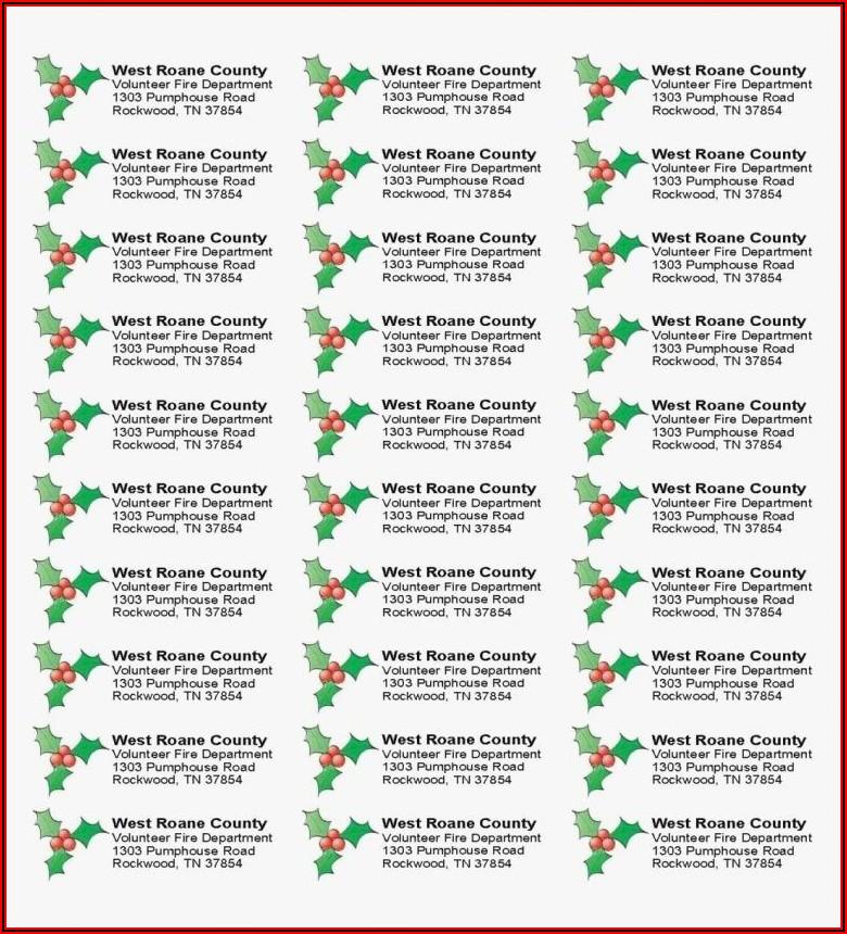 Christmas Return Address Label Templates