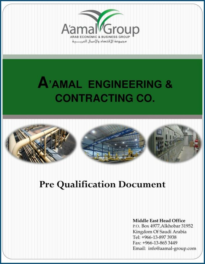 Contractor Prequalification Form Template