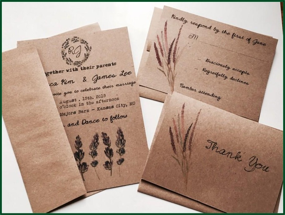 Country Wedding Invitations Cheap