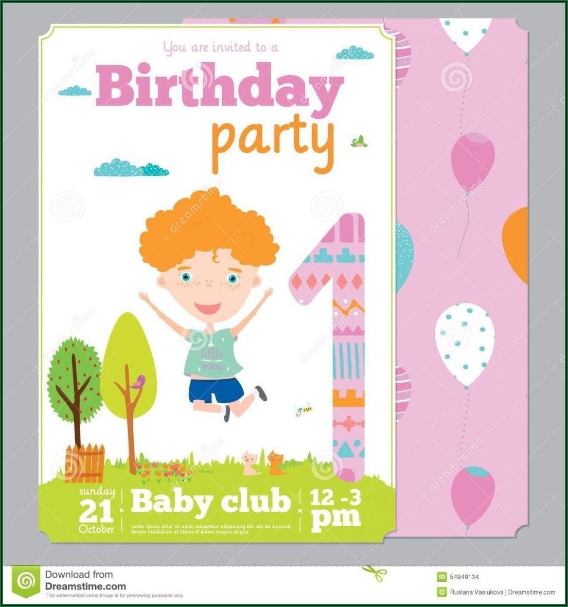 Create 1st Birthday Invitation Card With Photo Free