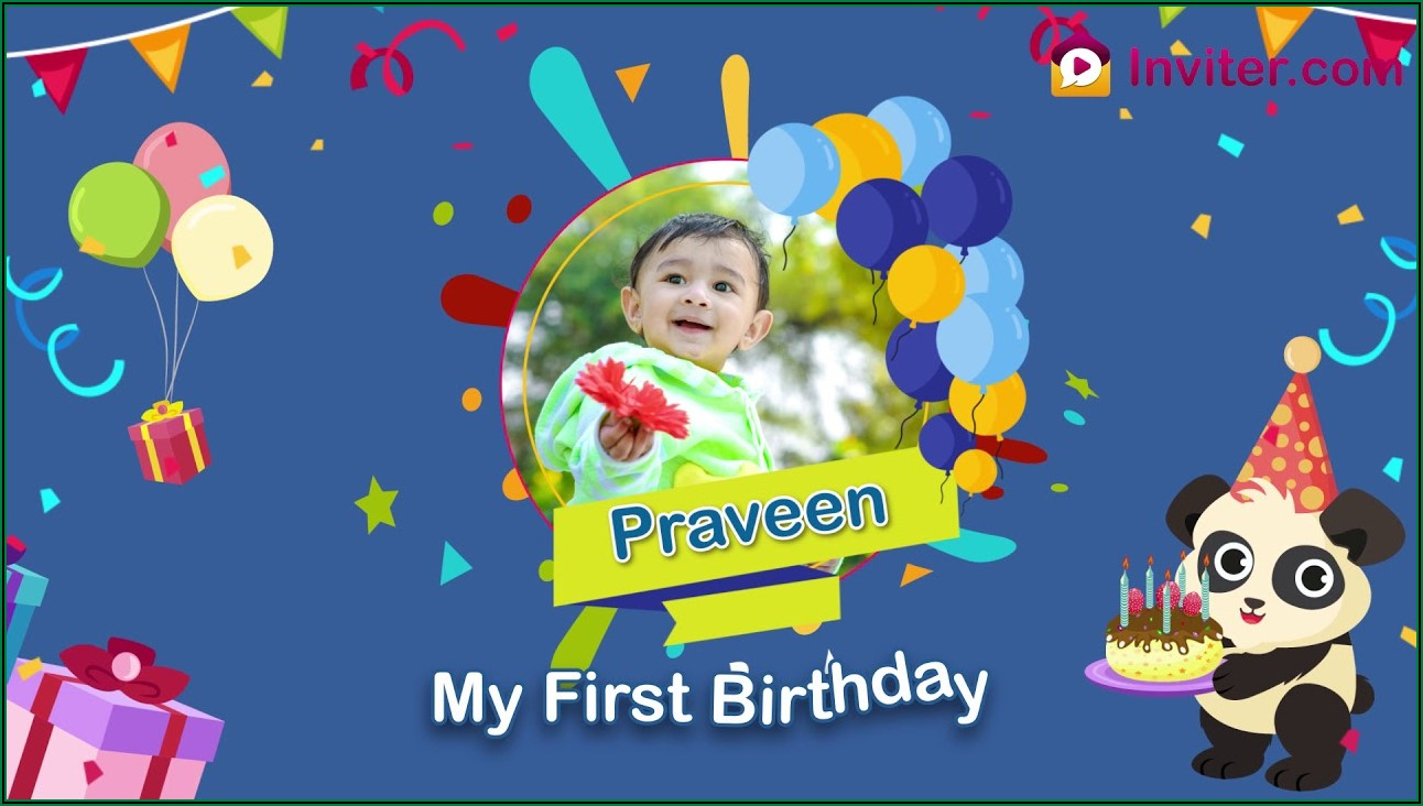Create Birthday Invitation Card With Photo Free In Hindi