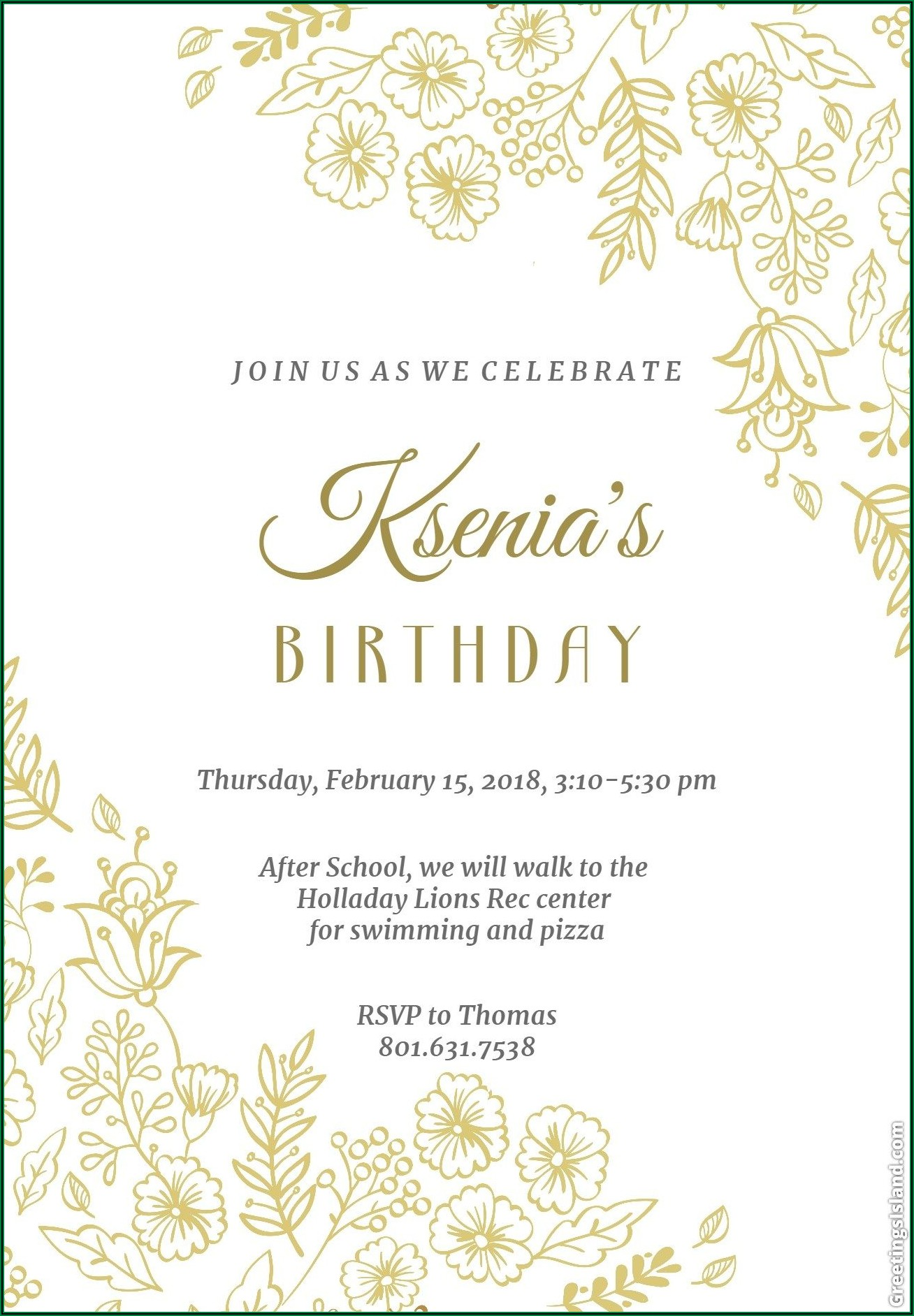 Create Your Own Invitations Free Printable Online