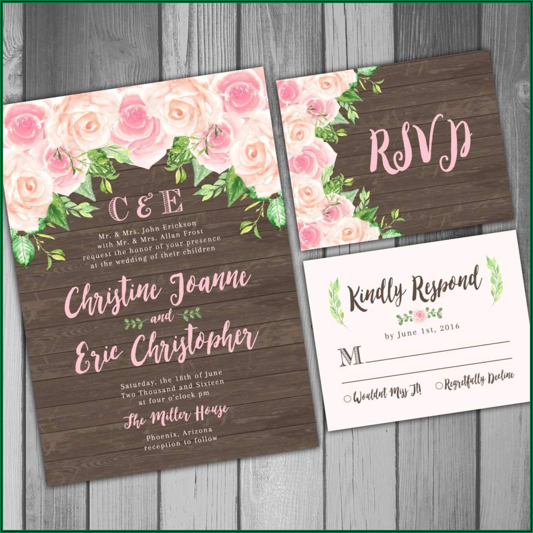 Create Your Own Wedding Invitations Free Printable
