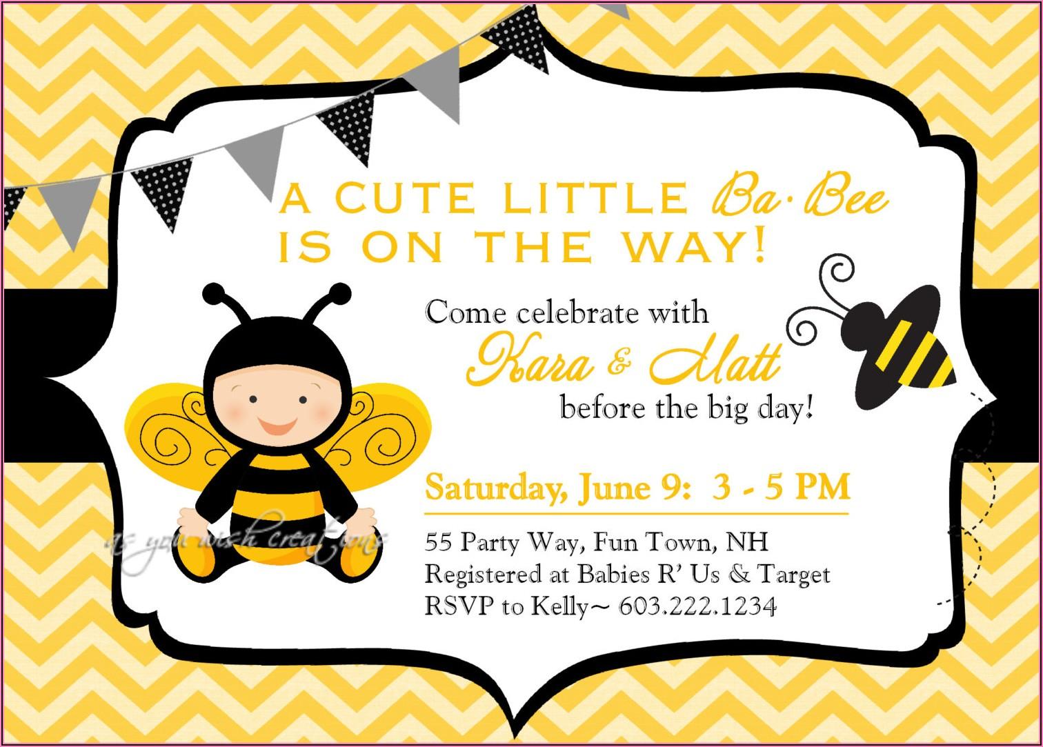 Cute Baby Girl Invitations
