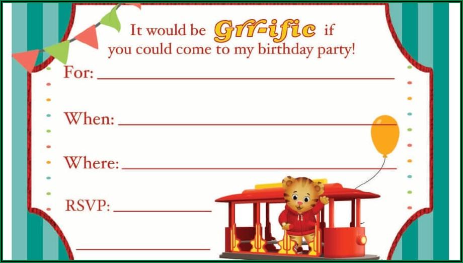 Daniel Tiger Birthday Invitations Personalized