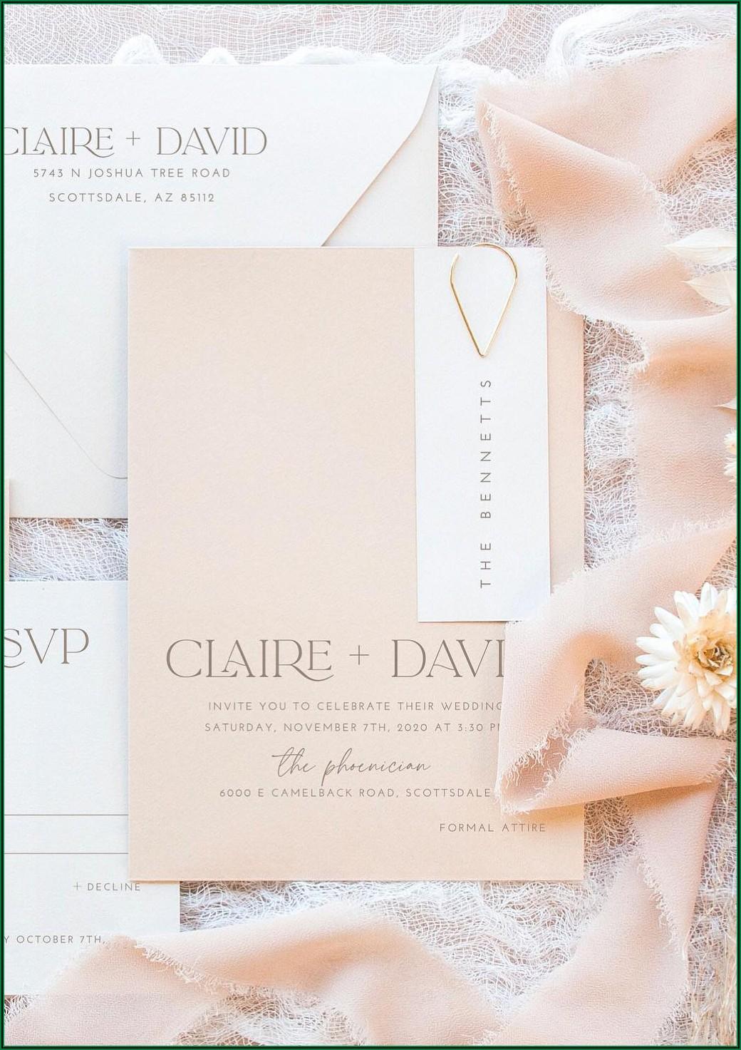 David's Bridal Invitations