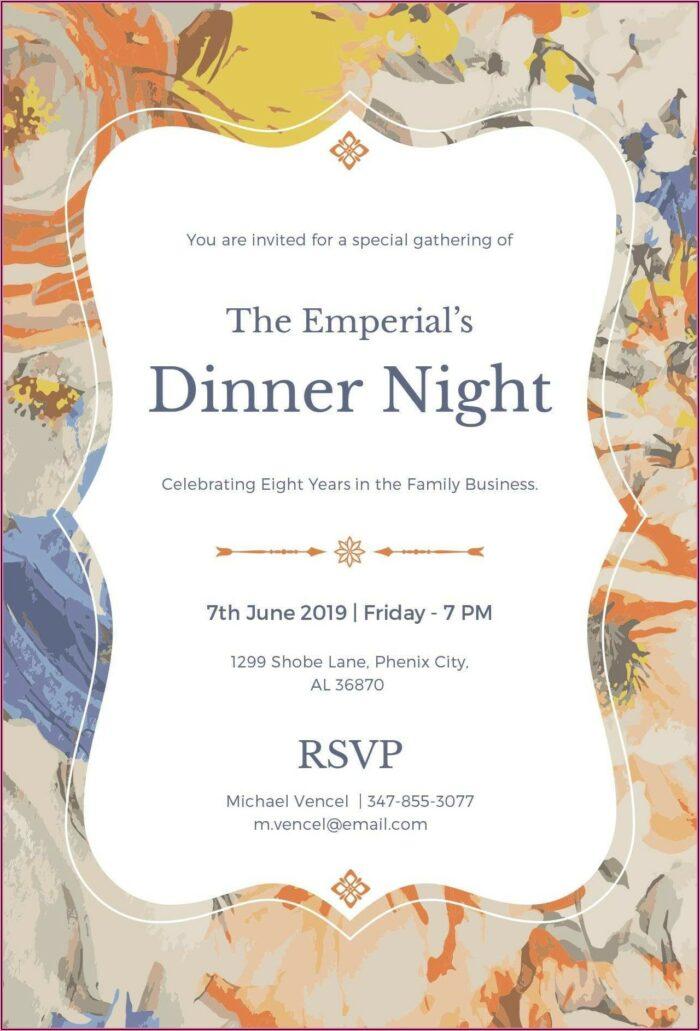 Dinner Invitation Template Microsoft Word