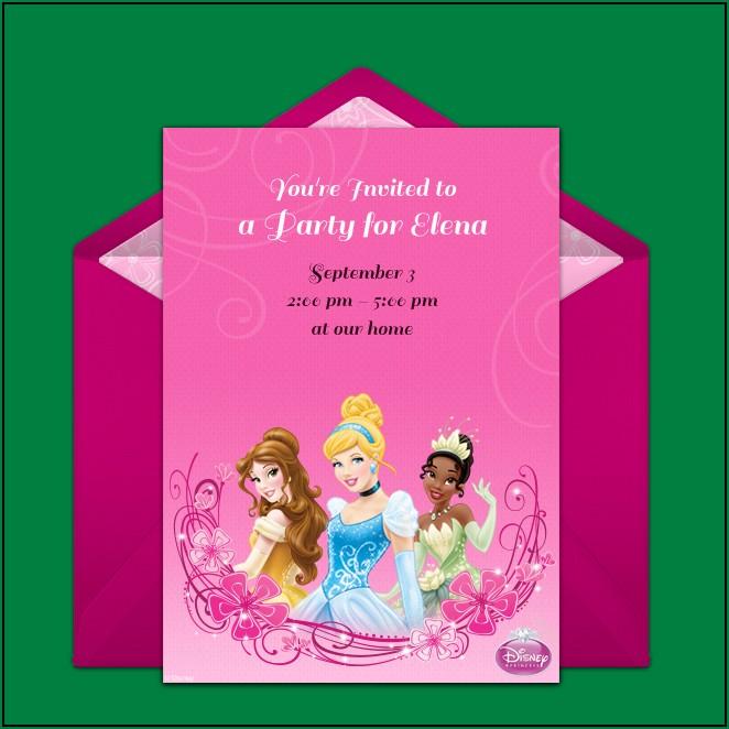 Disney Princess Party Invitations Online
