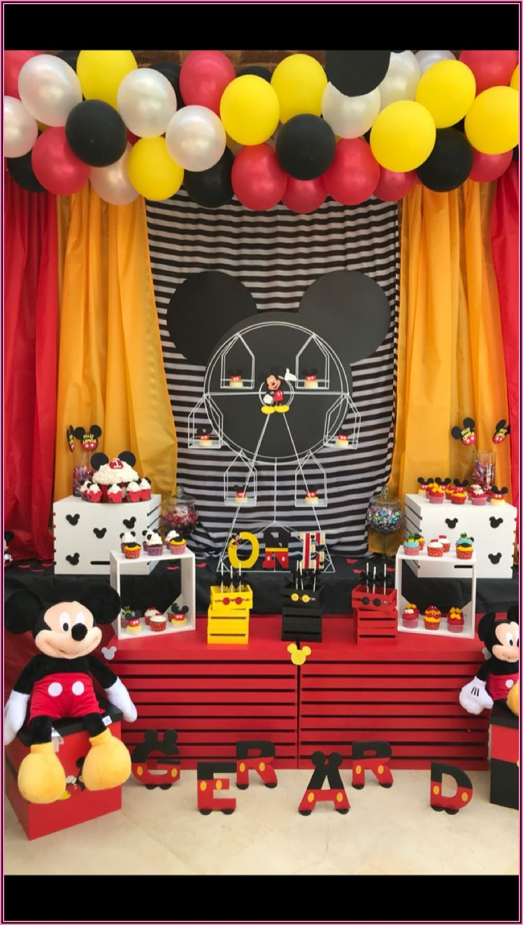 Diy Mickey Mouse 1st Birthday Party Ideas
