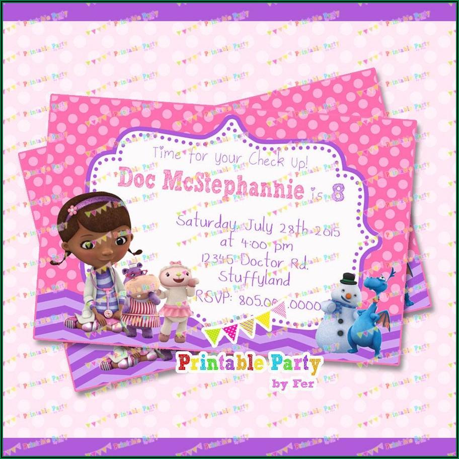 Dr Mcstuffins Birthday Invitations