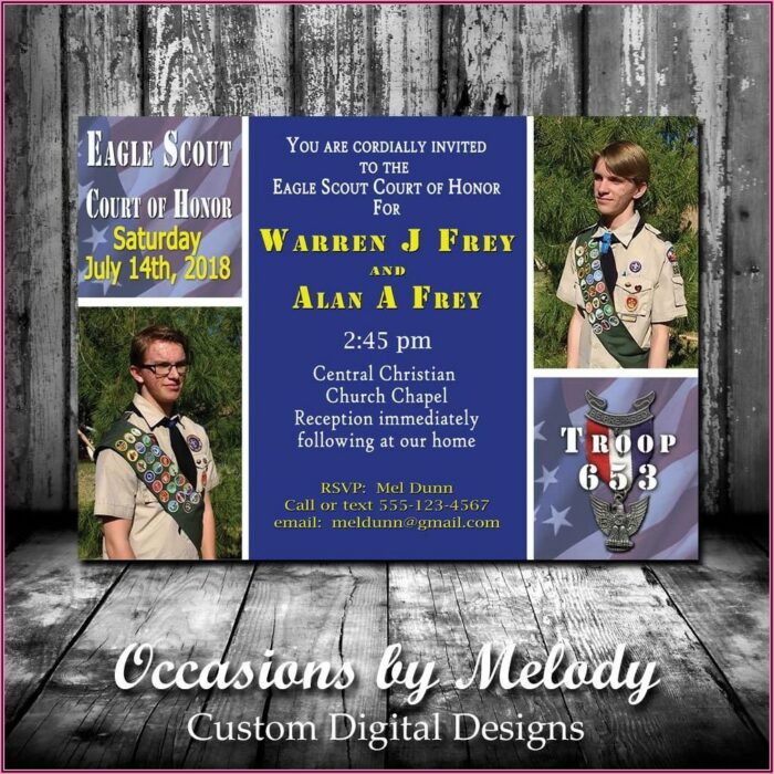 Eagle Scout Court Of Honor Photo Invitations