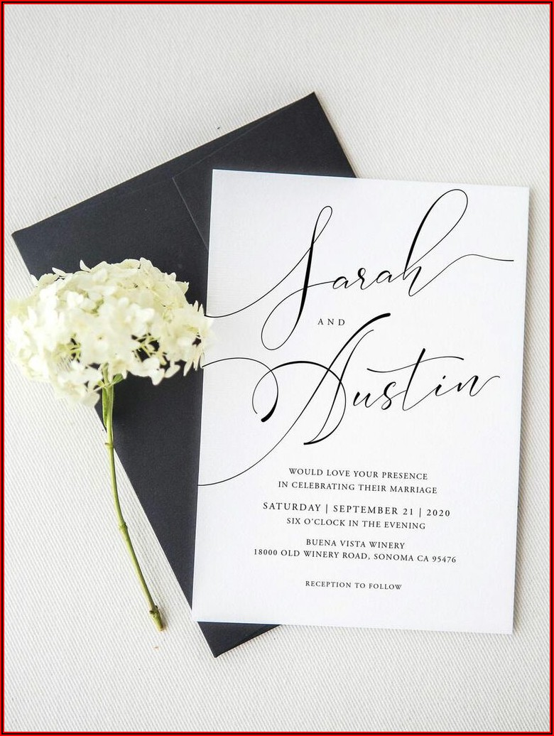 Email Wedding Invitation Templates Free Download