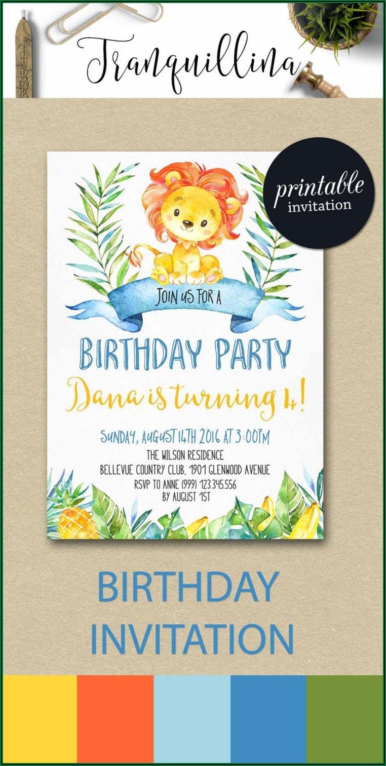 Etsy Birthday Invitations Boy