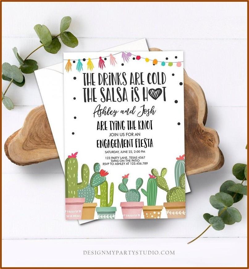 Fiesta Gender Reveal Invitation Template