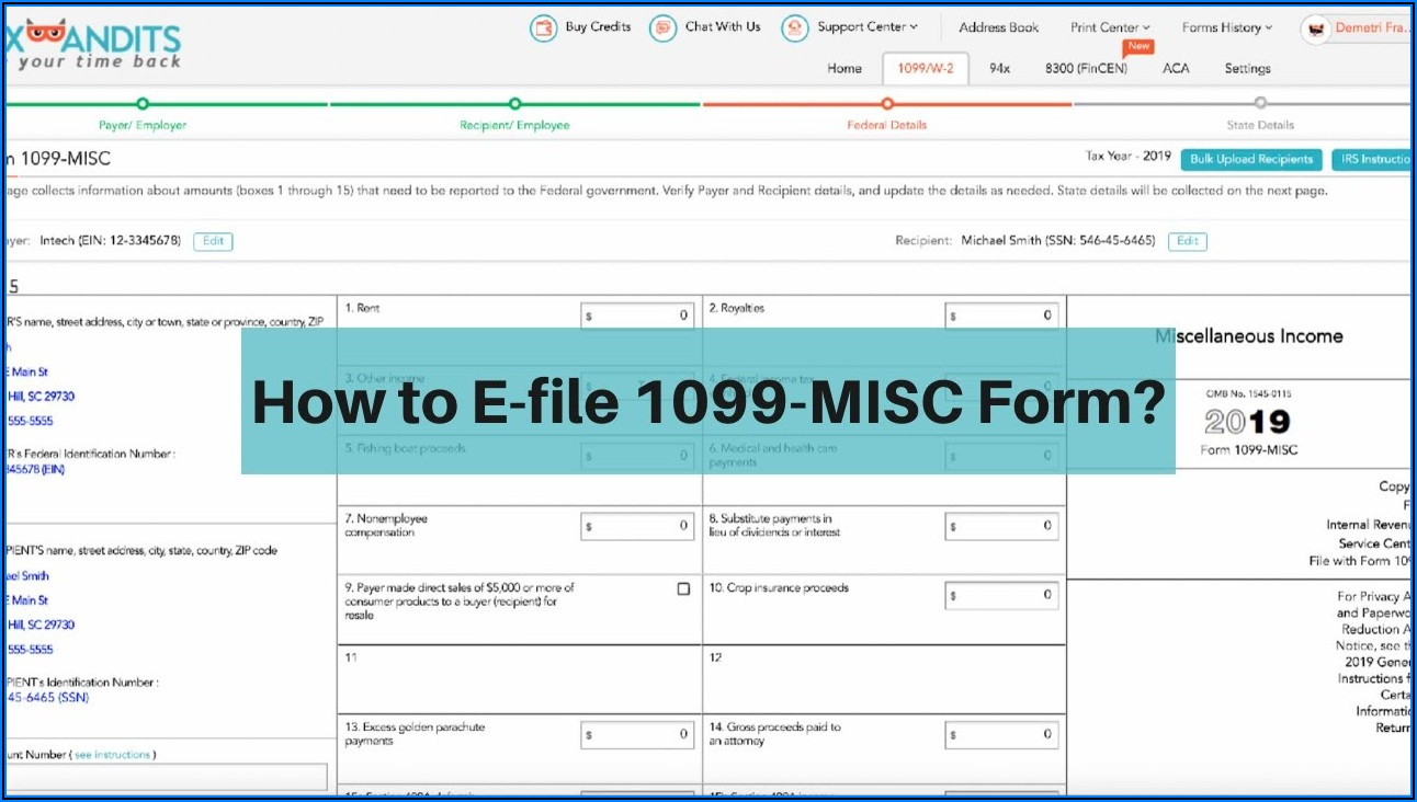 Form 1099 Misc 2019