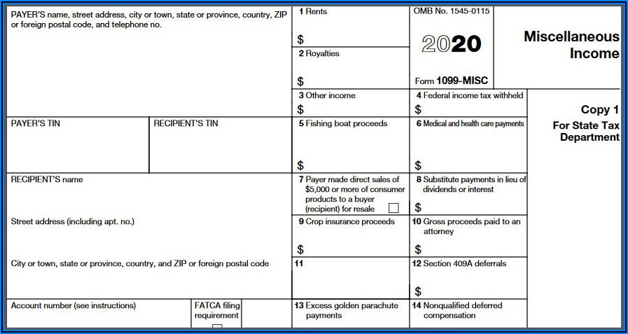 Form 1099 Misc Box 6 Medical And Health Care Payments