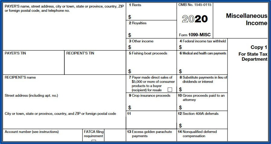 Form 1099 Misc With Nec In Box 7 Meaning