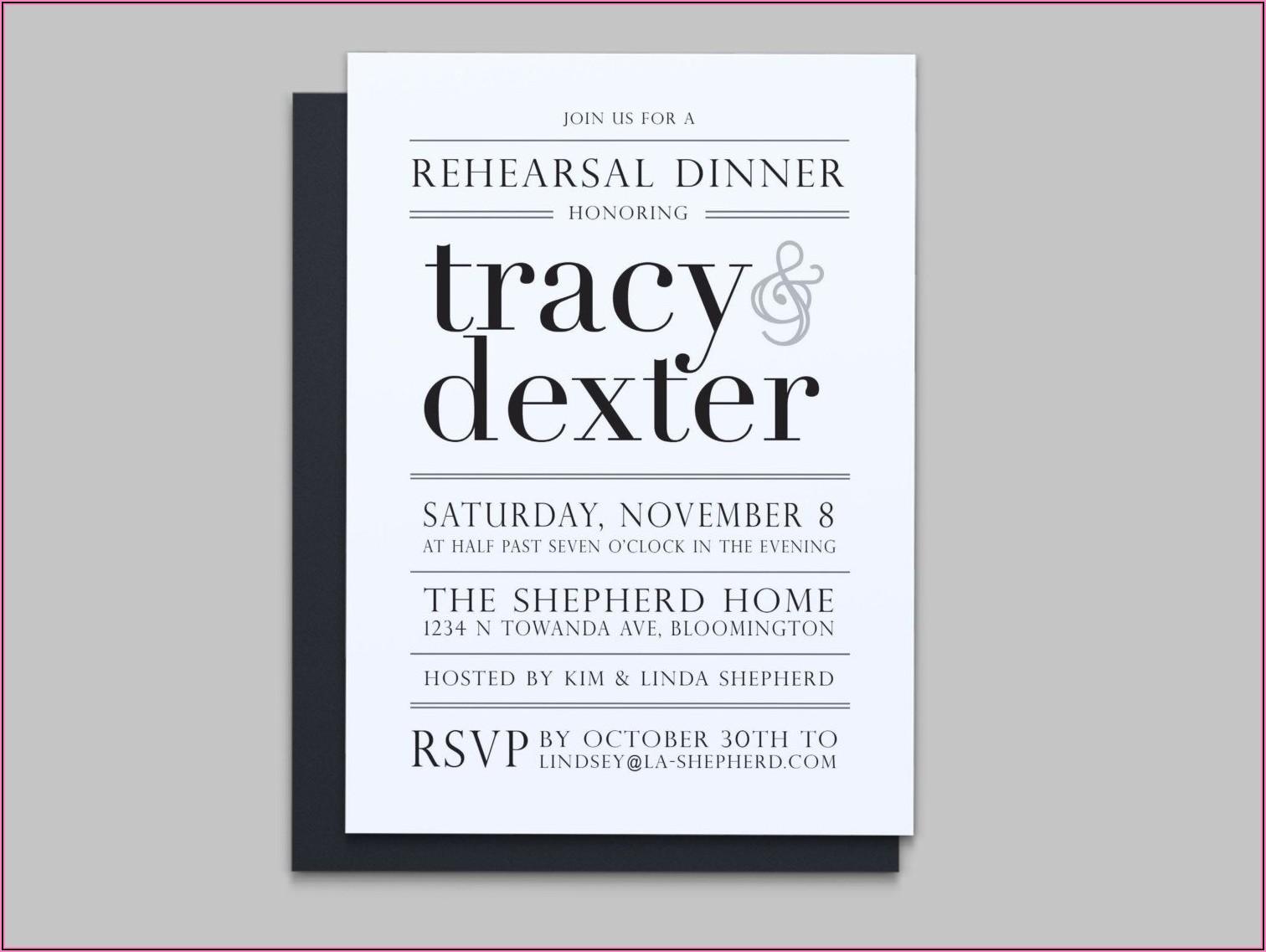 Formal Rehearsal Dinner Invitation Wording
