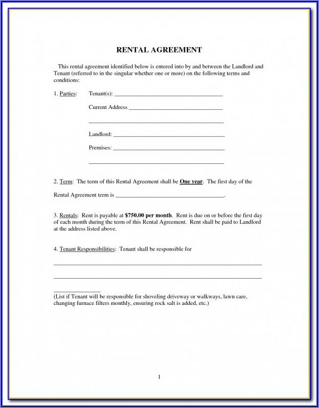 Free Basic Commercial Lease Agreement Template