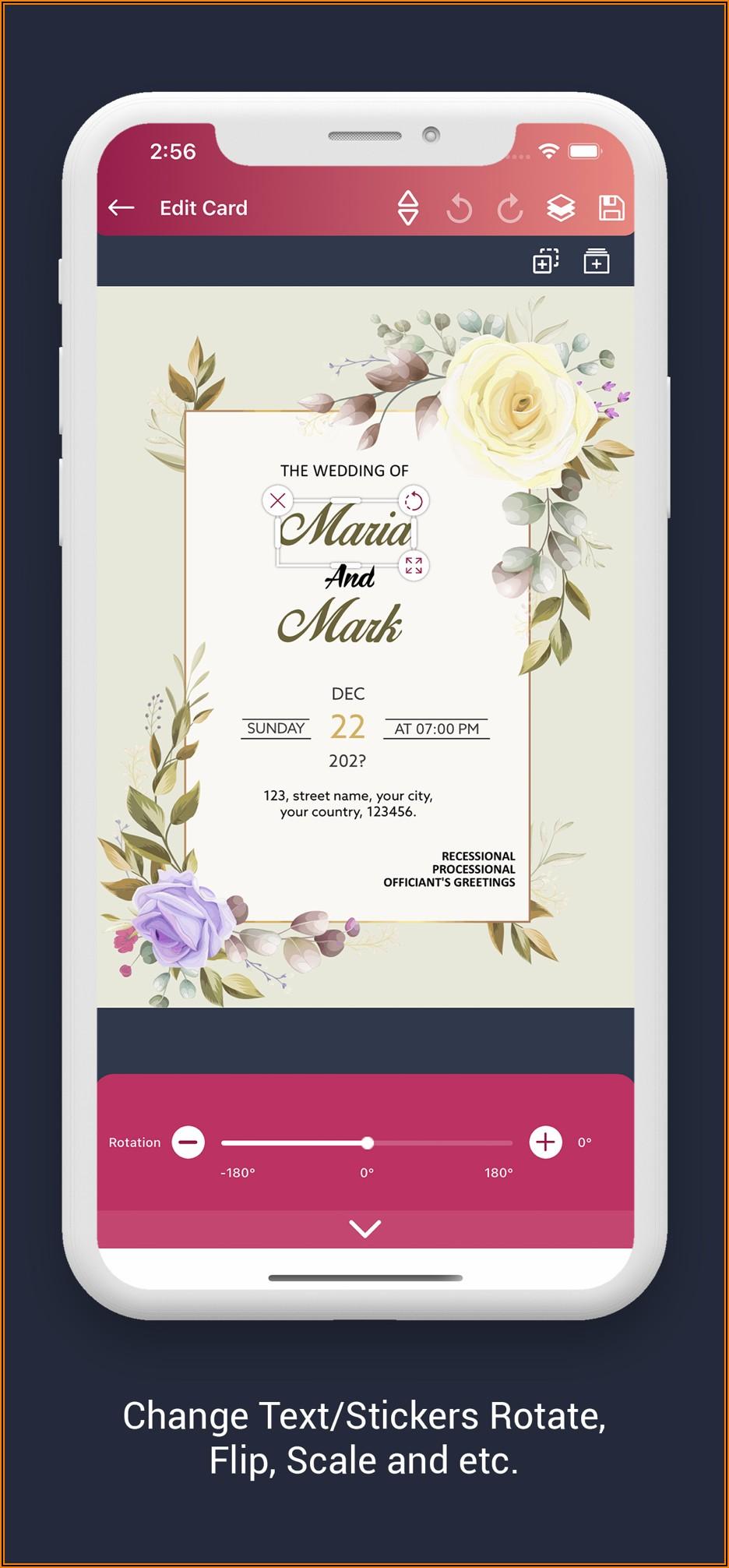 Free Invitation Card Design App