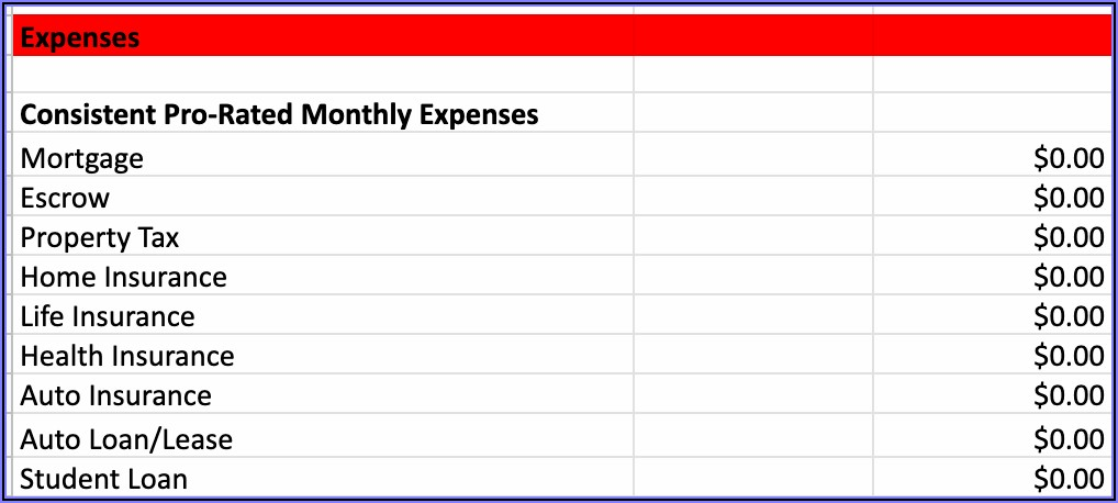 Free Personal Budget Spreadsheet Excel