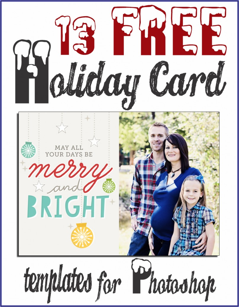 Free Photoshop Holiday Card Templates